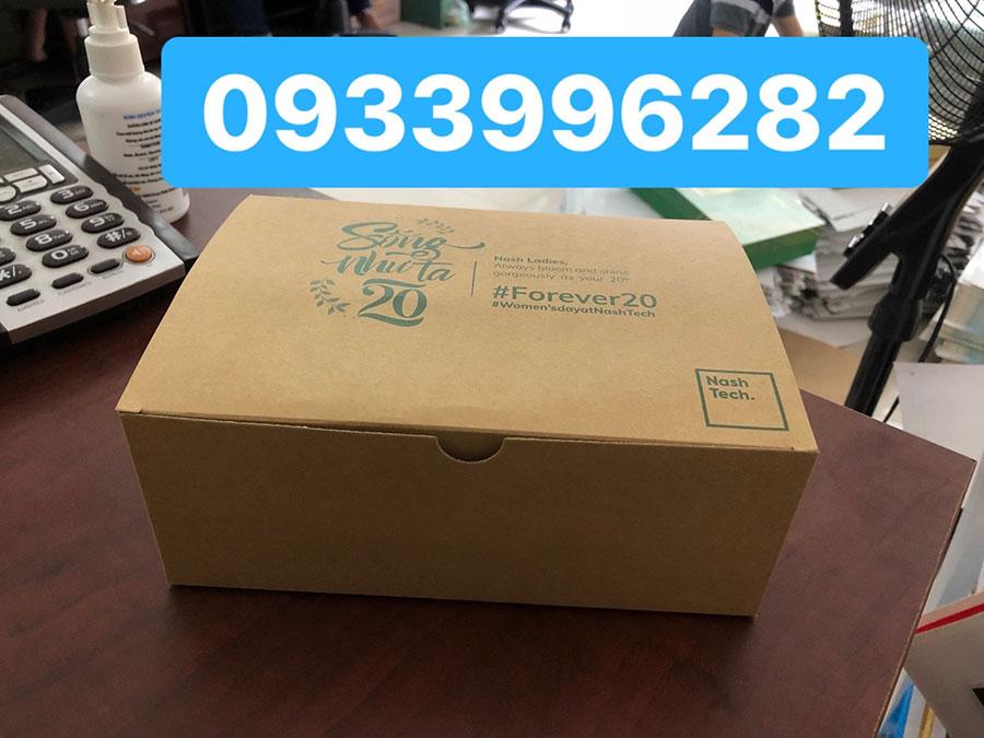 In hộp giấy kraft số lượng ít tại TPHCM
