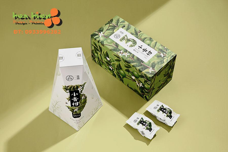 Thiết kế hộp giấy bao bì trà tinh tế
