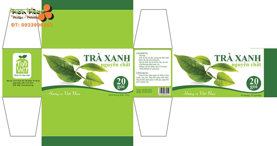 Thiết kế vỏ hộp trà