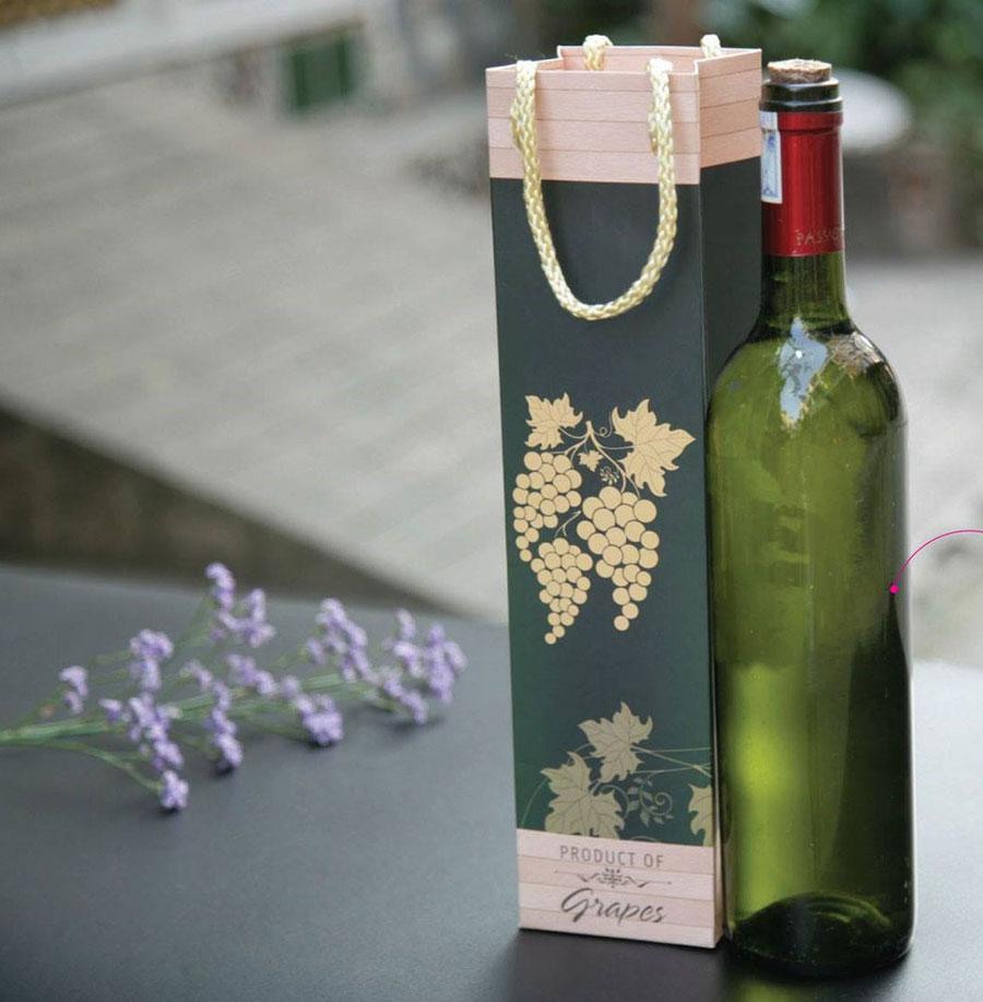 Mẫu túi giấy đựng rượu
