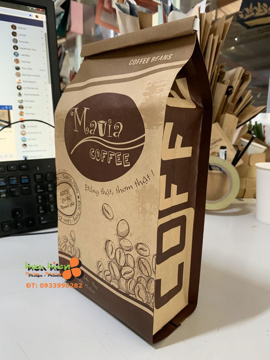 Túi giấy đựng cà phê ghép màng nhôm